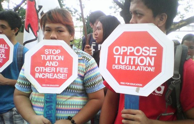 Youth groups storm Ched, denounce tuition increase