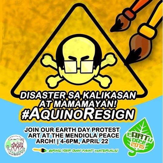 Kalibutan Earth Day 2 Aquino resign