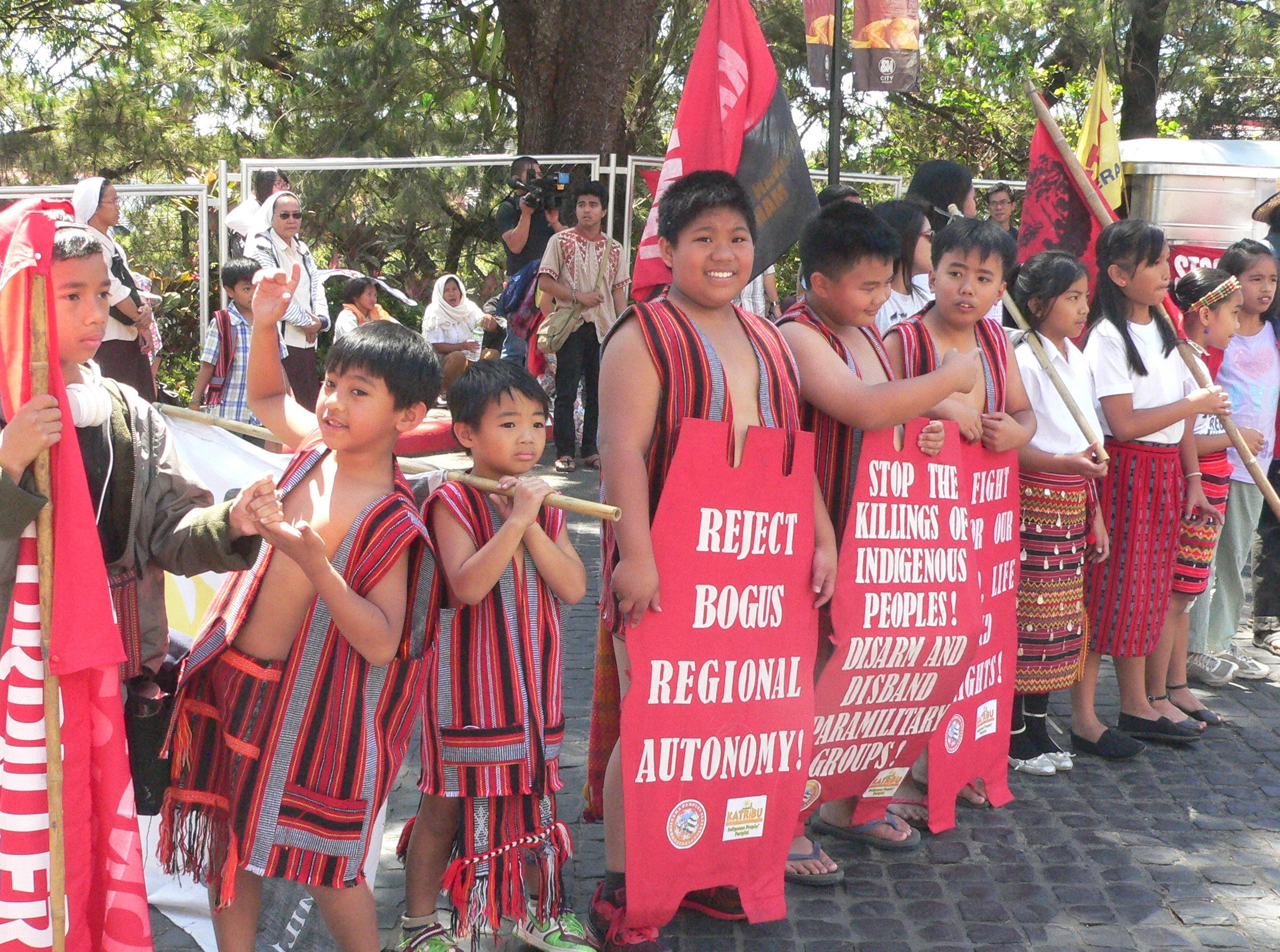 The next generation. Children join the protest at SM City Baguio on Cordillera Day 2015 (Photo by D. Ayroso / Bulatlat.com)