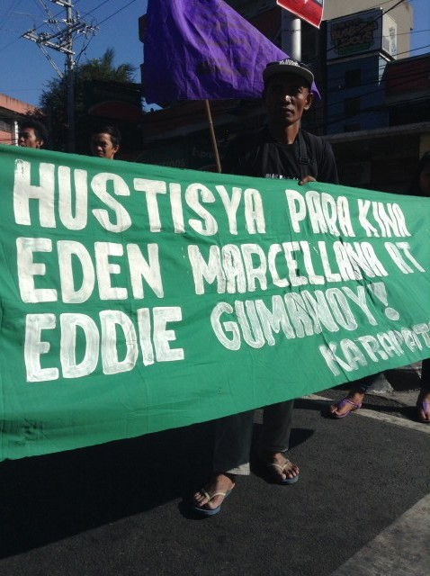 Orly Marcellana, husband of slain activist Eden. (Photo by J. Ellao / Bulatlat.com)