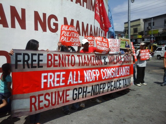 Human rights defenders call for the release of the Tiamzon spouses (Photo by J. Ellao / Bulatlat.com)