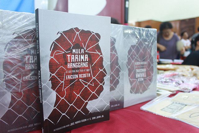 Ericson Acosta's book is an addition to the rich prison literature of the country. (Photo by Fred Dabu / Bulatlat.com)