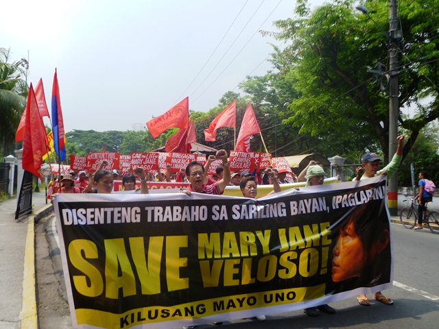 KMU members marching to offices of Labor Department (April 21, contributed photo / BUlatlat.com)