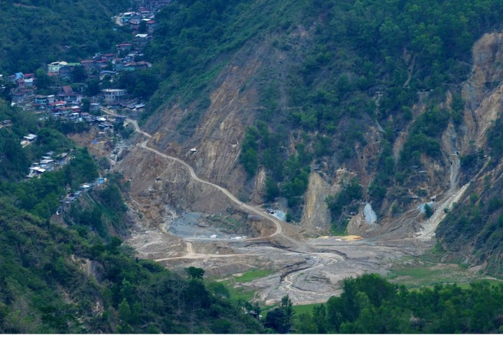 The abandoned open-pit mine in Loacan village, Itogon, Benguet. (Photo by K. Manuel/Bulatlat.com)