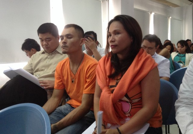 Maria Cristina Sergio and Julius Lacanilao, the recruiters of Mary Jane Veloso  (FILE PHOTO by J. Ellao / Bulatlat.com)