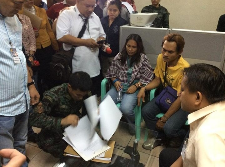 Alleged recruiters of Mary Jane Veloso during the inquest procedding at NBI (Photo courtesy of Jeff Aguilar / National Union of Peoples' Lawyers)