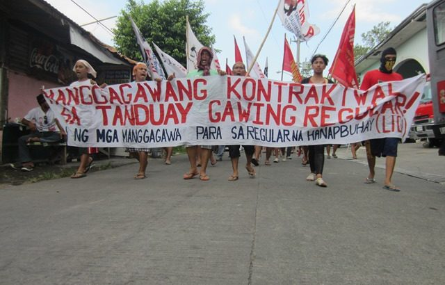 Tanduay workers on strike
