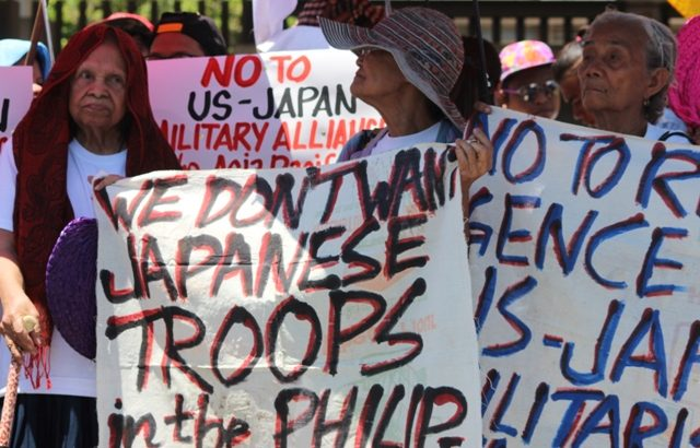 Comfort women join protest vs PH naval drills with Japan, US