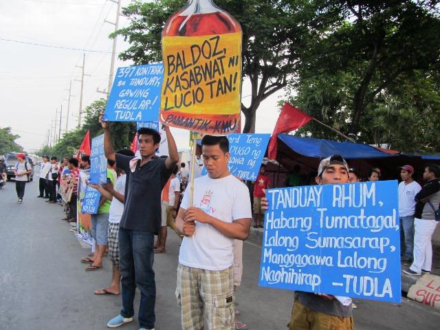 Tanduay workers strike