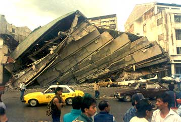 Baguio in the aftermath of the 1990 quake