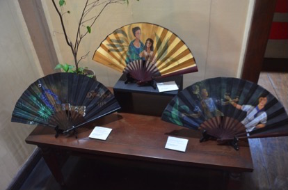 Hand-painted fans sold for P2,500 each, to raise funds for the conservation of the house (Photo by C. Cabanatan/Bulatlat.com)