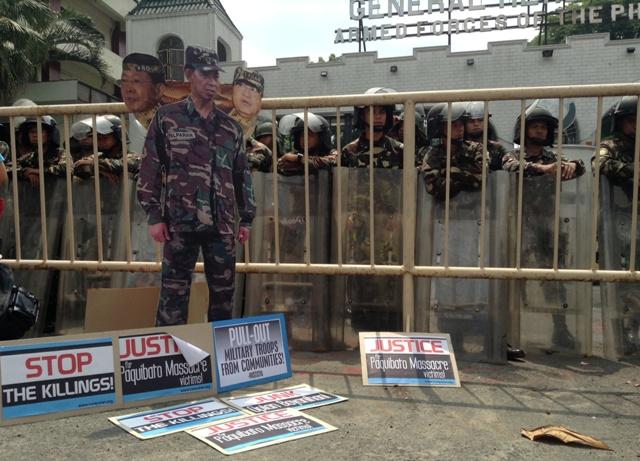 Palparan-trained Army battalion is behind the Paquibato massacre, said human rights group Karapatan. (Photo by J. Ellao / Bulatlat.com)