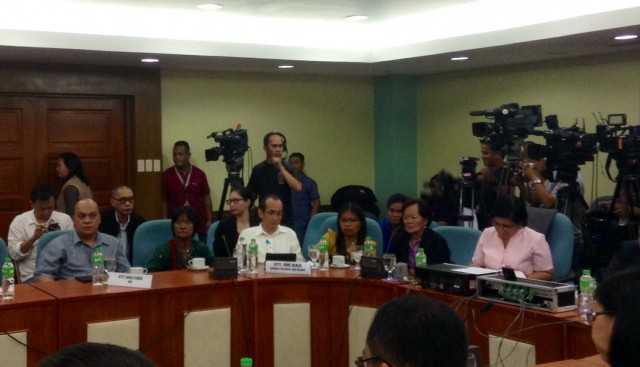 Veloso family attends Congress hearing on Mary Jane's case. (Photo by J. Ellao / Bulatlat.com)