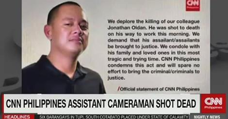 CNN Philippines, solon condemn killing of cameraman