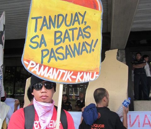 Tanduay workers fighting for what is due them