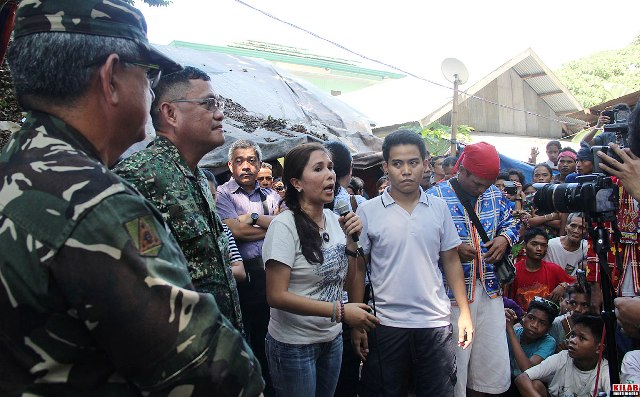 North Cotabato 2nd district Rep. Nancy Catamco with the military officials during the fact finding mission. (Photo by Kilab Multimedia)