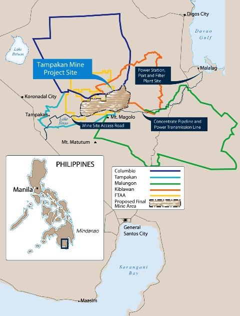 map Tampakan mines
