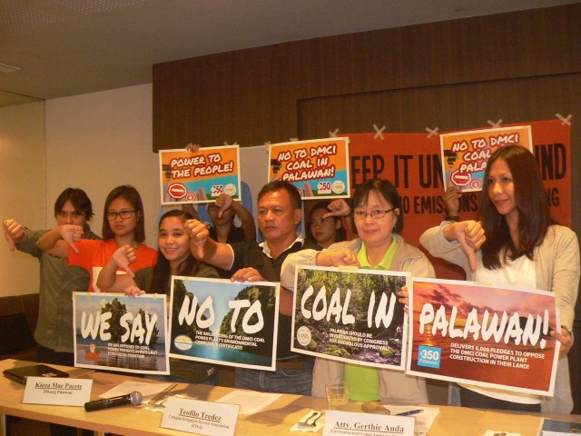 Palawan environmentalists call on DENR to also thumb down  the DMCI coal-fired power plant (Photo by D.Ayroso/Bulatlat.com)