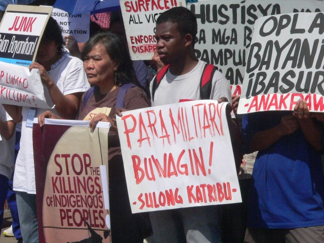 Whether under Arroyo or Aquino, same counterinsurgency tactic pits Lumád against Lumád