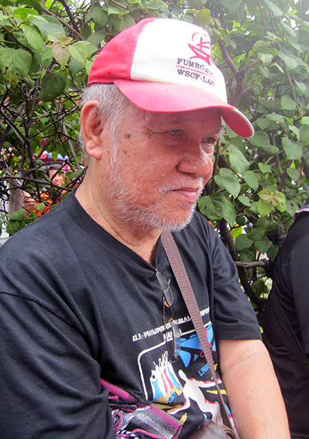 Church worker Roy Montes says impunity continues to reign in the country. (Photo by Ronalyn V. Olea / Bulatlat.com)
