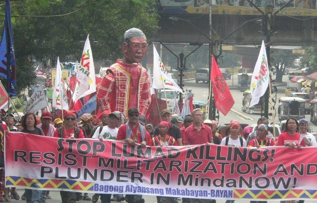 #Manilakbayan2015 | 'Aquino accountable for Lumád killings'