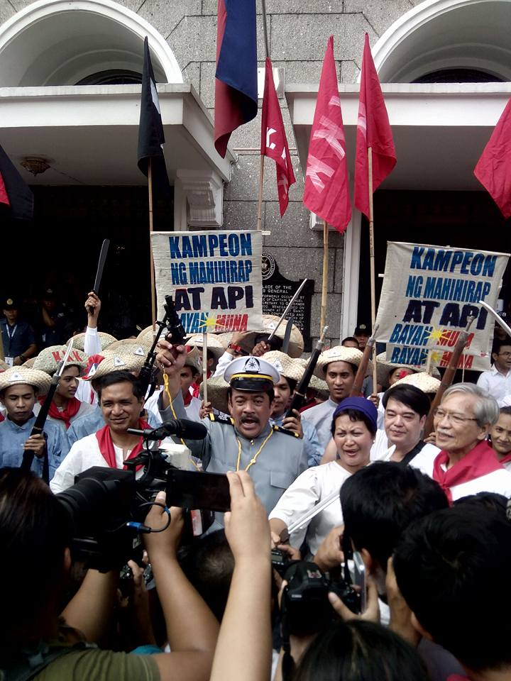 Bayan Muna nominees and supporters dressed up as Katipuneros (Contributed photo)