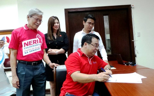 #FighterNgBayan | Colmenares files certificate of candidacy for senate