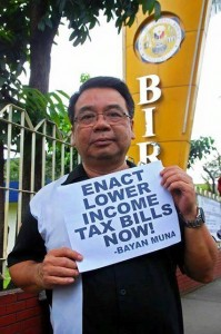Picture: Colmenares bats for lower income tax