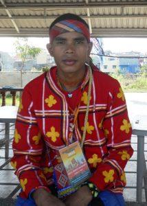 Datu Jimboy Mandagit after having solidarity lunch with Save Laguna Lake Movement. (Photo by A. Umil/ Bulatlat.com)