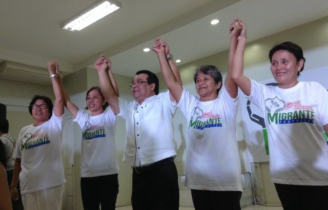 Migrante partylist to fight for OFWs in Congress