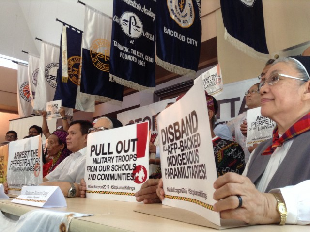 Church leaders vow to support Lumad in fight for justice (Photo by J. Ellao / Bulatlat.com)