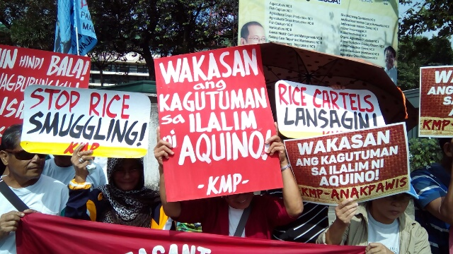 Peasant and fisherfolk protested on World Food Day on Oct. 16, Friday, calling for genuine agrarian reform, which, they said, will solve hunger. (Contributed photo/ Bulatlat.com)