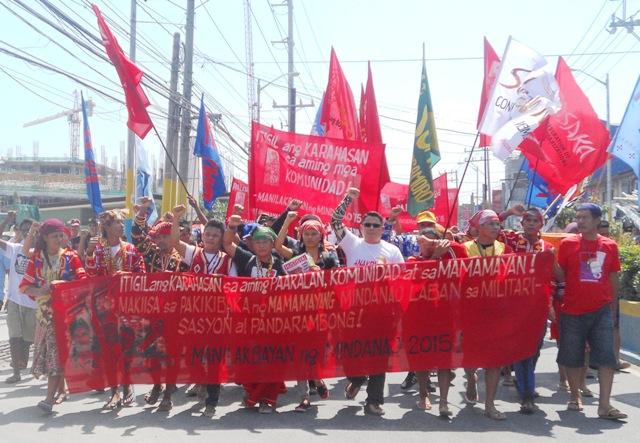 Delegates of Manilakbayan in Alabangm Muntinlupa City. (Photo by A. Umil/ Bulatlat.com)