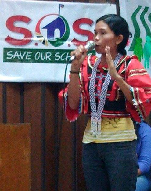 Marissa Ejanel, 27, a Manobo from White Culaman village, Kitaotao, Bukidnon. (Photo courtesy of Children's Rehabilitation Center/ Bulatlat.com)