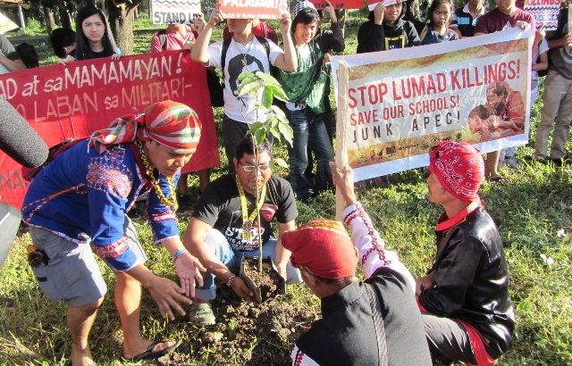 Manilakbayan thanks UP community with Narra trees