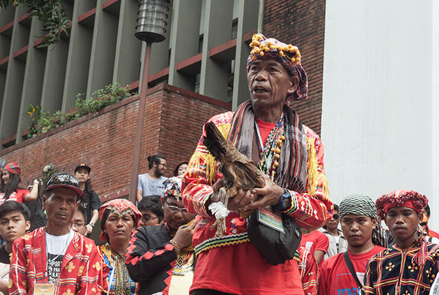 Lumad perform sacred ritual at UP Diliman