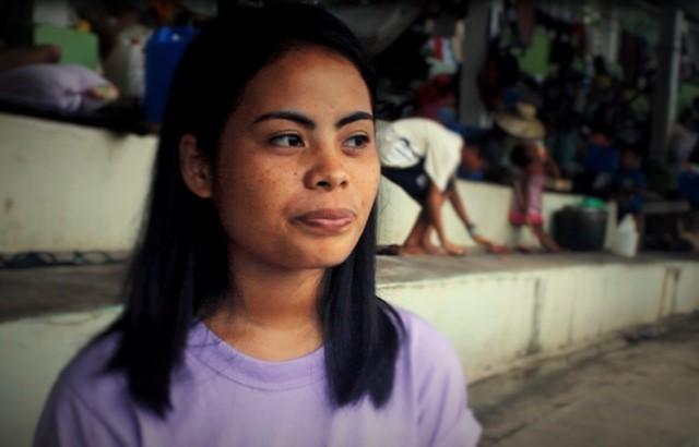 Belandres, a student turned parateacher for IP school (Photo by J. Ellao / Bulatlat.com)