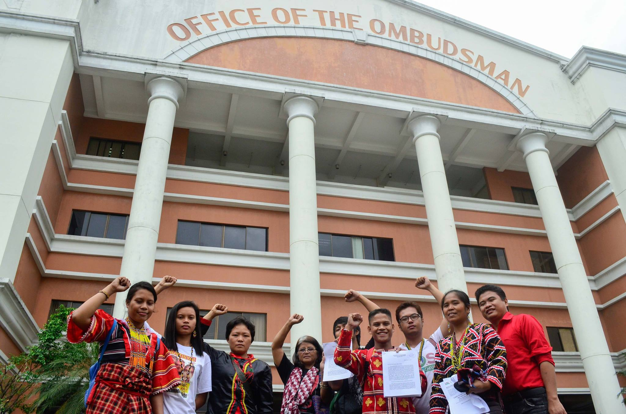 The Save our Schools (SOS) Network together with the Lumad community leaders, students and teachers filed administrative charges against Education Secretary Bro. Armin Luistro at the Office of the Ombudsman on Monday, Nov. 23. (Photo by Tudla Productions)