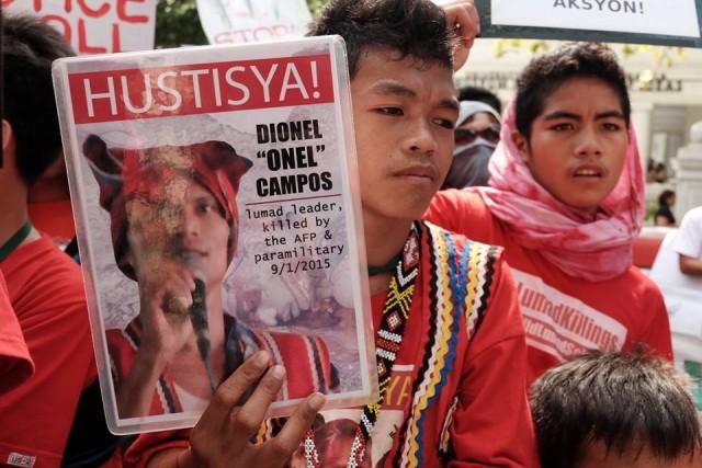 Manilakbayan protest at the DOJ in Manila on Nov. 5 (Photo by Manila Today)