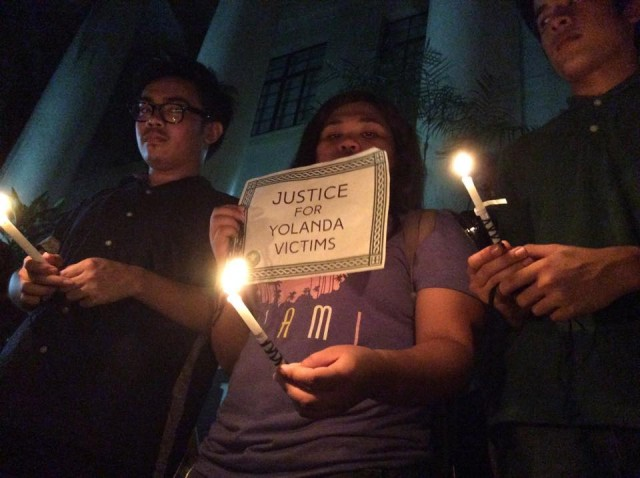 UP Manila students remember the victims of Typhoon Yolanda/Haiyan  (Photo grabbed from UP Saribuhay Facebook account)