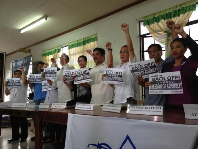 Rights lawyers say they will stand with activists during anti-APEC rally. (Photo courtesy of NUPL)
