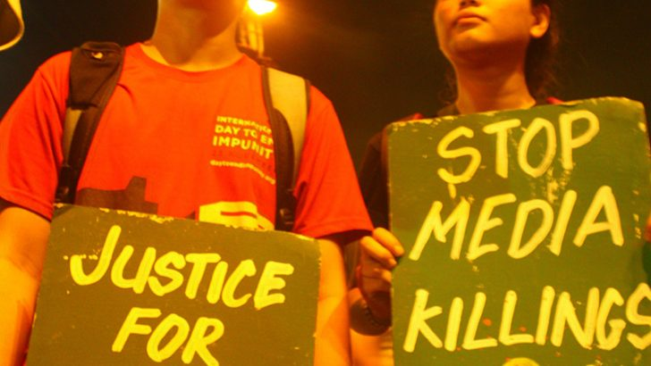 Duterte told: 'Nothing justifies media killings'