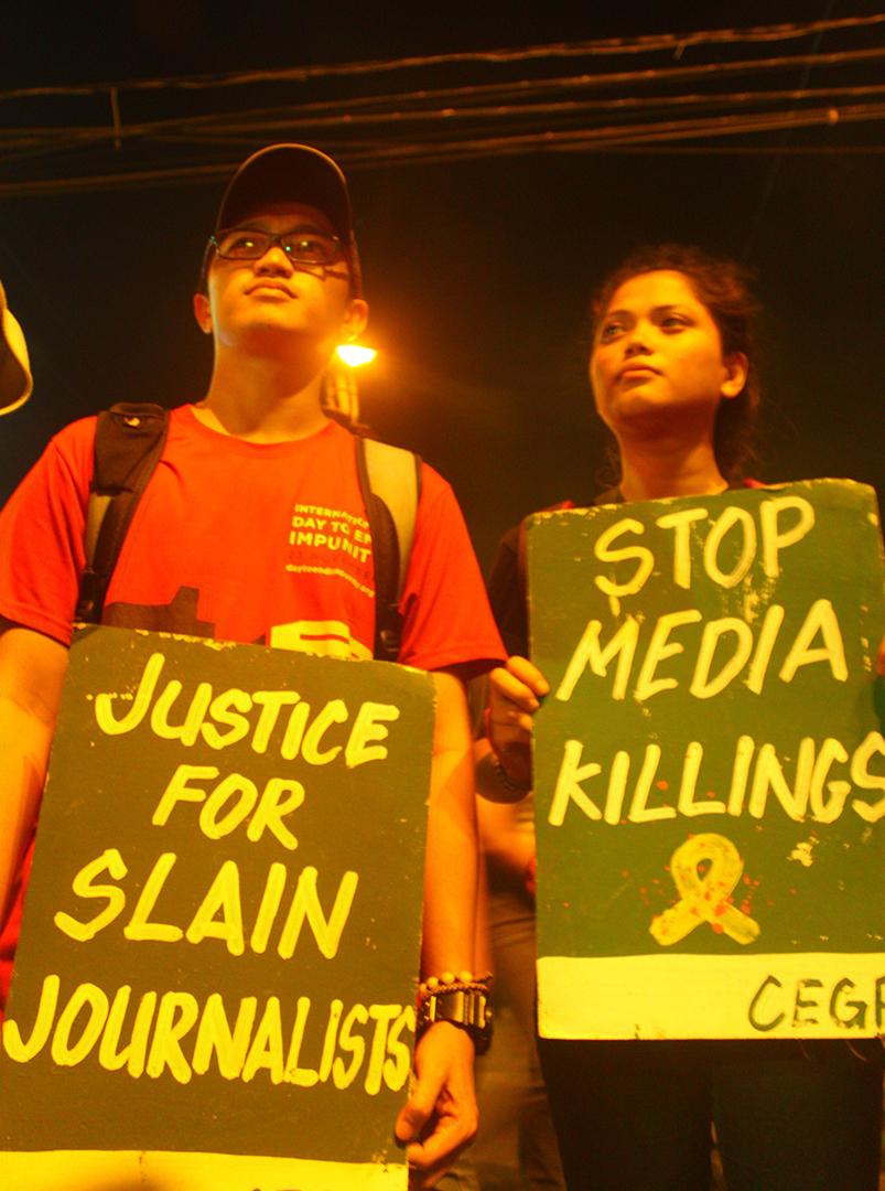 Duterte told: 'Nothing justifies media killings'