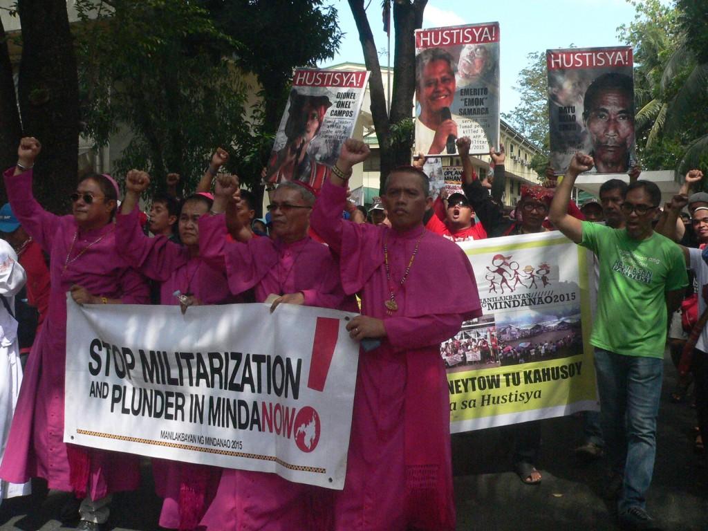 Lumád, green groups protest at mines bureau