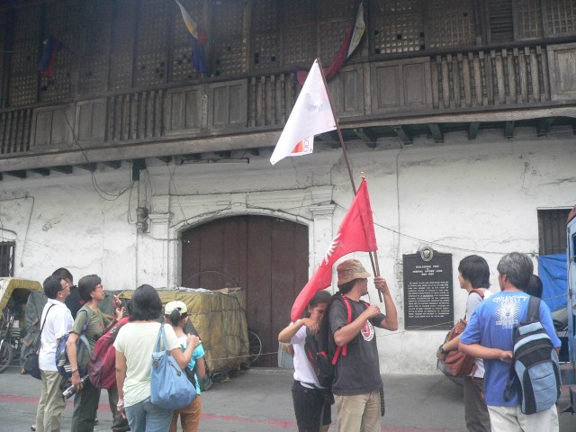 LUNA HOUSE. The brothers General Antonio Luna and painter Juan Luna were born in this house along Urbiztondo street, in front of the Raja Soliman Science and Technology School.