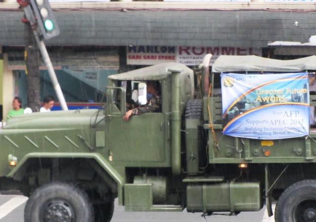Military trucks - APEC picture