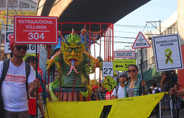 'Jail Aquino for rights violations' – progressive groups