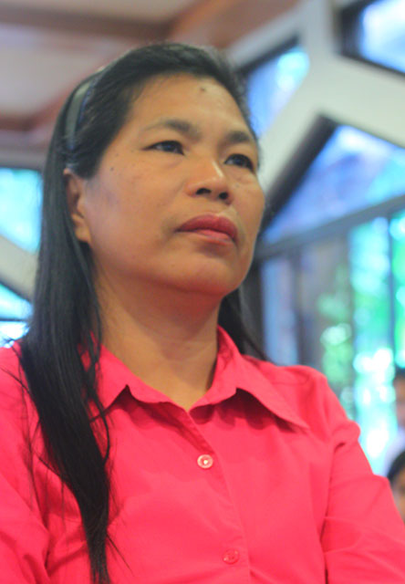 Maria Aurora Santiago continues to seek justice for Dutch missionary Willem Geertman. (Photo by Ronalyn V. Olea/ Bulatlat.com)