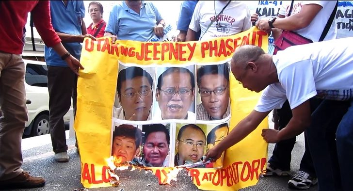 Drivers want Abaya, Aquino to scrap order of corporate takeover of jeepneys