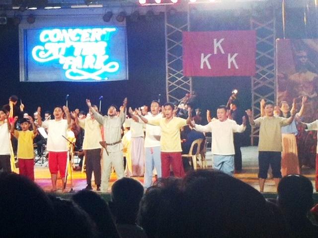 Concert at the park for Bonifacio